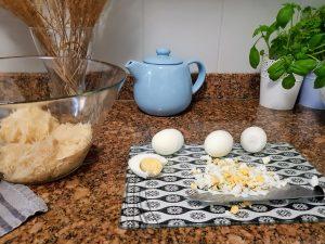 jajka pokrojone w kostke