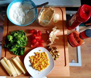składniki do tortilli