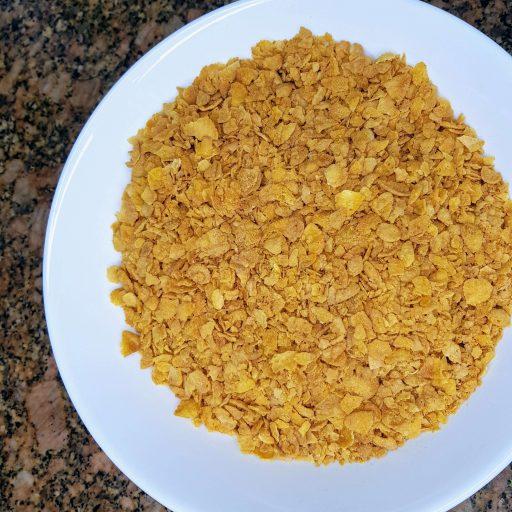 zmielone płatki kukurydziane