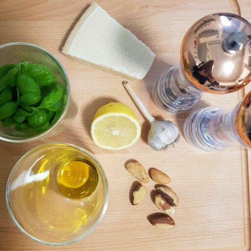 składniki na pesto