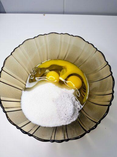 jajka z cukrem