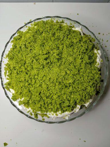 posypane ciasto leśny mech